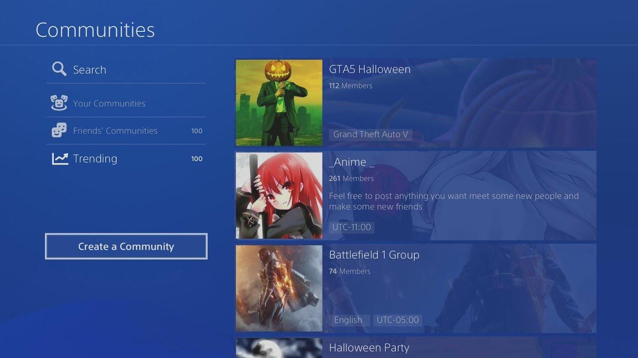 Playstation 4 Toplulukları
